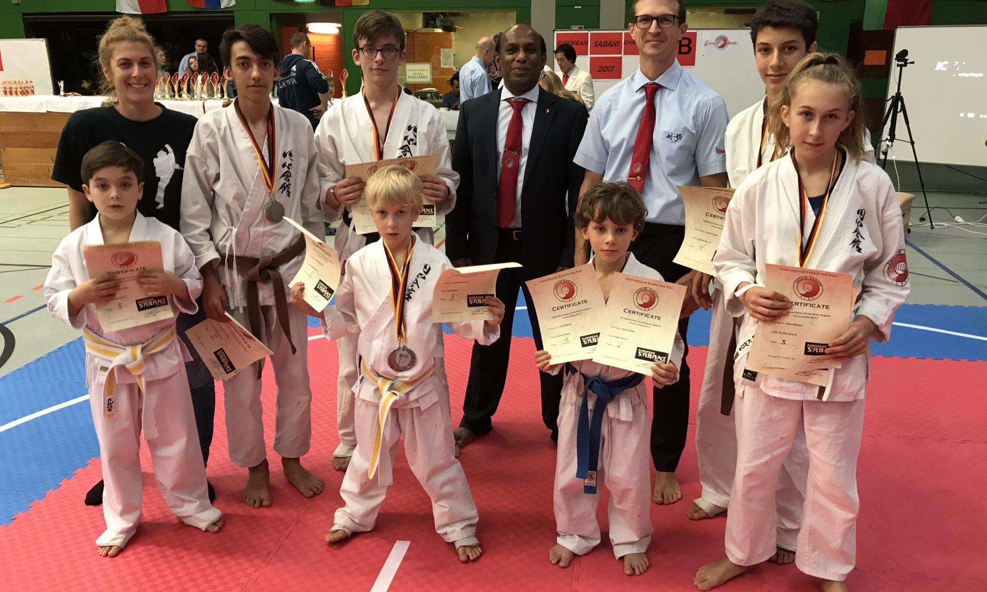 Team Karlsruhe bei der Enshin Karate Europameisterschaft 2017