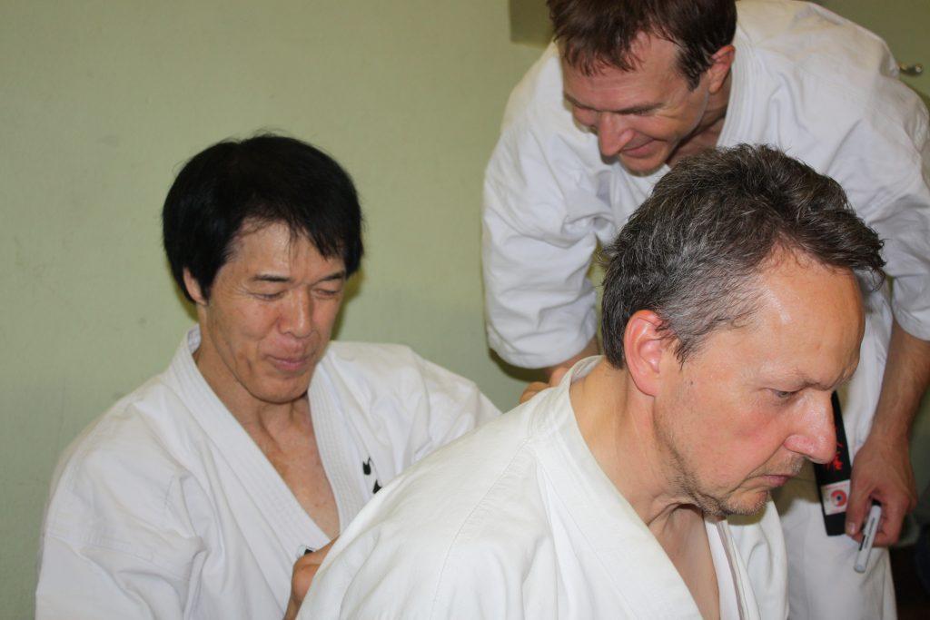 Kancho Joko Ninomiya signs Enshin Karate Gis at Karlsruhe